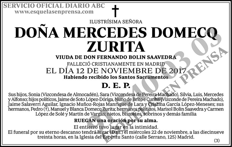 Mercedes Domecq Zurita